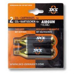 2 Cartuchos CO2 16 g SKS Airgun