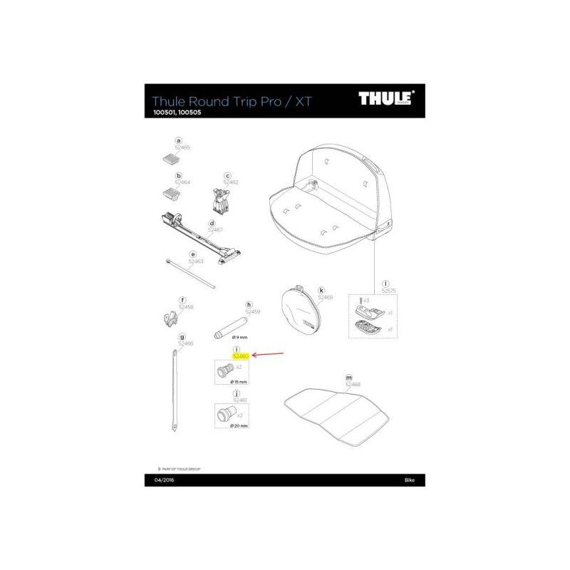 Fork Mount Adapter 15x100m, Thru w/ O-Ring