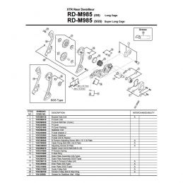 Portapoleas XTR M980/M985/M986
