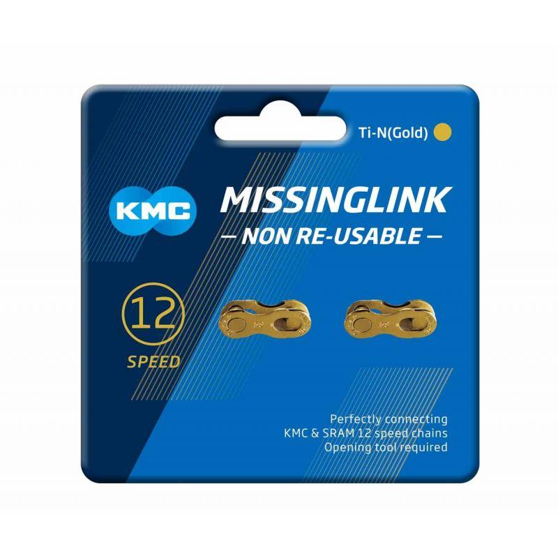 ESLABÓN RÁPIDO KMC MISSINGLINK 12NR Ti-N (Gold)
