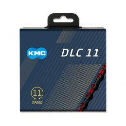 cadena kmc DLC11 negro rojo