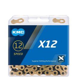 cadena kmc x12 dorada-negro