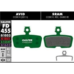 Pastillas freno Galfer Pro sram Code R, Code RSC, guide RE