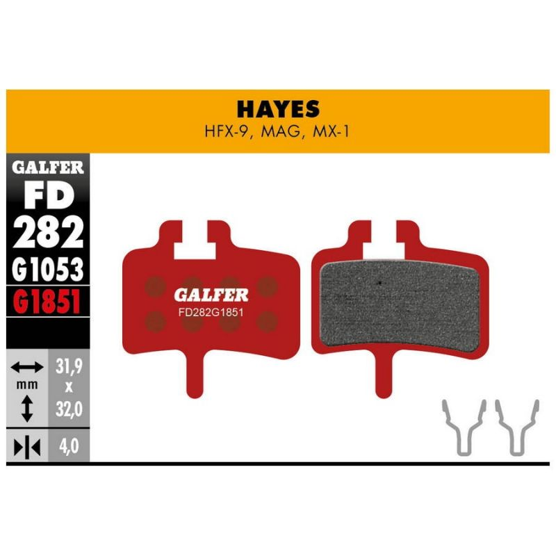 pastillas de freno galfer advanced Hayes MAG - HFX - MX1