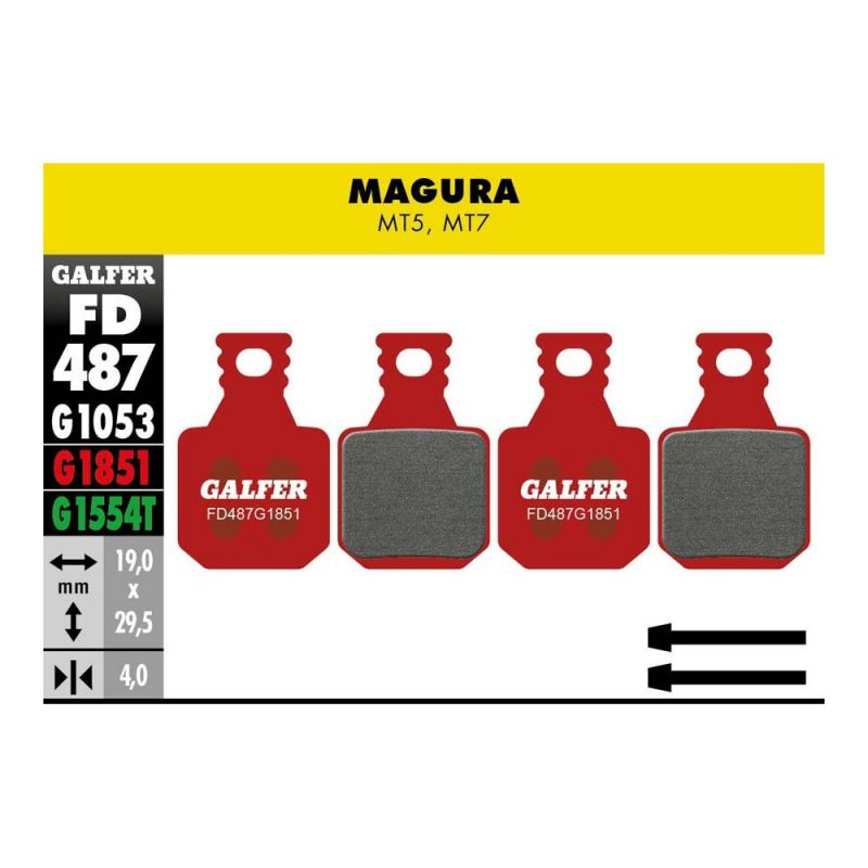 Pastillas Galfer advanced Magura MT5 y MT7